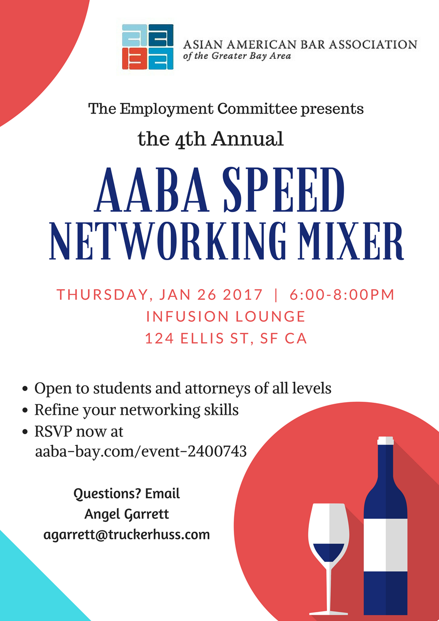 asian american bar association of the greater bay area aaba employment committee speed networking